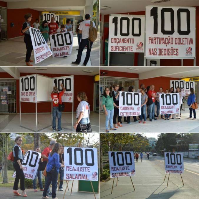 greve 100 dias apes
